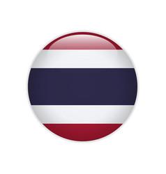 Thailand flag on button vector