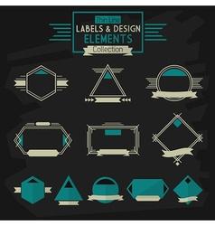 Thinline banner design elements vector