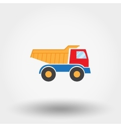 Truck toy icon vector
