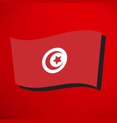 tunisian flag icon vector image