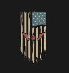usa flag grunge design vector image