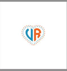 V r letter logo design vr monogram vector