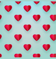 valentines origami heart seamless pattern vector image