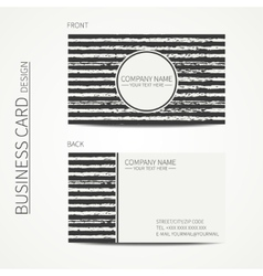 Vintage simple monochrome business card template vector