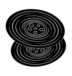 Vinyl recordshippy single icon in black style vector