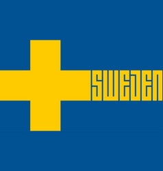 welcome to sweden stylized lettering in the vector image