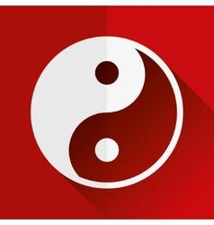 Yin yang flat icon vector