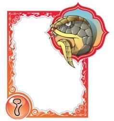 chinese horoscope frame series snake vector image vector image