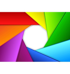 Colorful background in a shape of camera shutter vector image