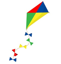 Flying kite vector image vector image
