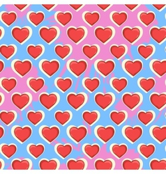 Heart pattern vector image vector image