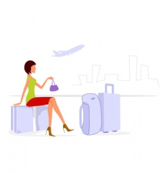 journey lady vector image vector image