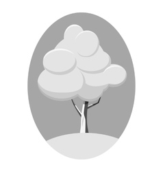 Winter tree icon gray monochrome style vector image vector image
