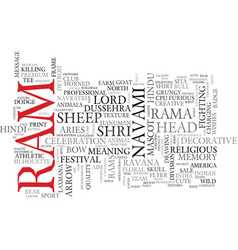 ram word cloud concept vector image