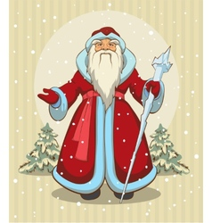 Russian Grandfather Frost Santa Claus vector image