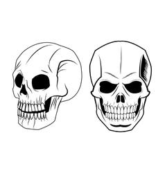 Skull tattoo art design vector image
