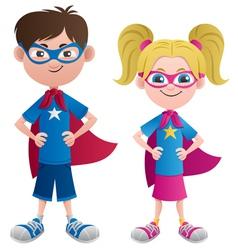 Super Kids vector image vector image