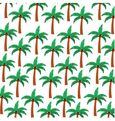 tree palm summer pattern vector image vector image