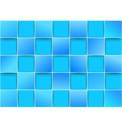 Blue tiles - threedimensional background vector image