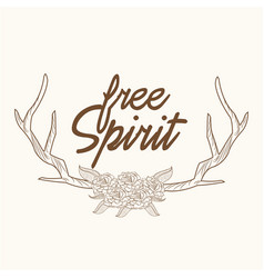 free spirit horns ornament image vector image vector image