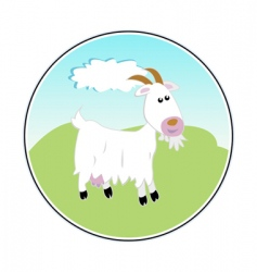 happy goat vector image