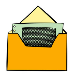money in envelope icon cartoon vector image vector image