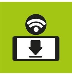 Smartphone wifi internet download icon vector