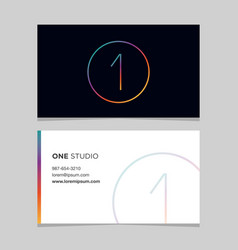 business-card-number-1 vector image vector image