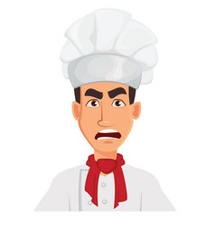 Face expression of chef man angry vector