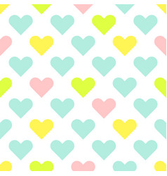 heart shapes cute baby seamless pattern vector image vector image