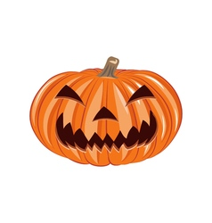 Smile Pumpkin Single Halloween Design Element vector image vector image