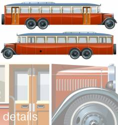 vintage bus liner 30-s vector image vector image