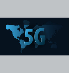5g new wireless internet wifi connection vector
