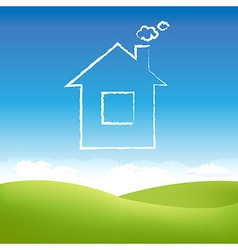Abstract House In Sky vector