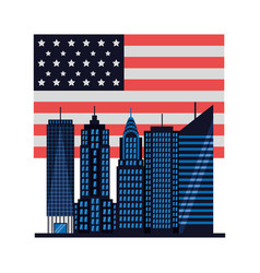 american city new york flag vector image