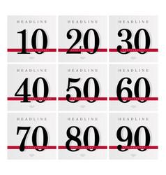 Anniversary banner template set journal cover vector