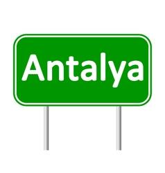 Antalya road sign vector