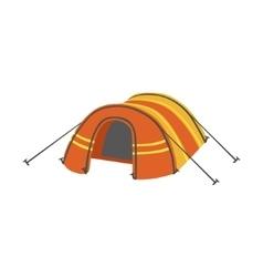 Arched Orange Bright Color Tarpaulin Tent vector image