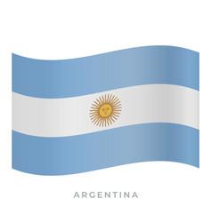 Argentina waving flag icon vector