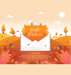 autumn season with email vector image