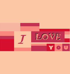 background love valentine s day pink vector image