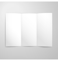 Blank Tri Fold Paper Mockup vector image