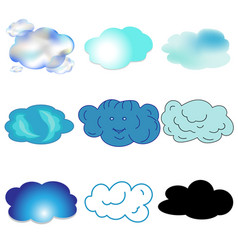 blue blue black transparent clouds in the sky vector image