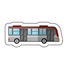 Bus public transport vehicle vector