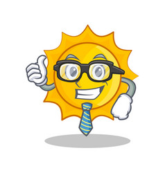 businessman cute sun character cartoon vector image