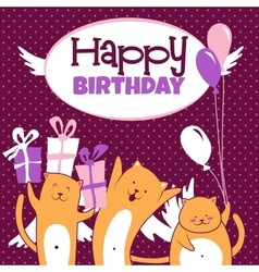Cats with balloons vector image