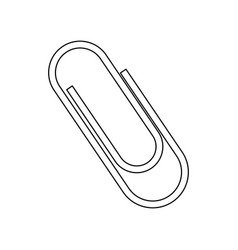clip metal office supply object vector image