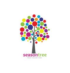 colorful season tree vector image