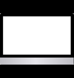 computer screen isolated on white background vector image