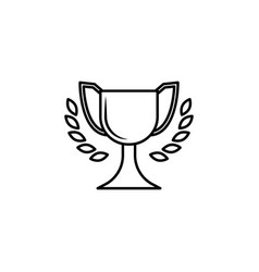 cup icon element of racing for mobile concept and vector image